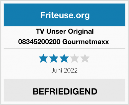 TV Unser Original 08345200200 Gourmetmaxx  Test
