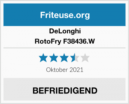 DeLonghi RotoFry F38436.W Test