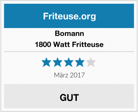 Bomann 1800 Watt Fritteuse Test