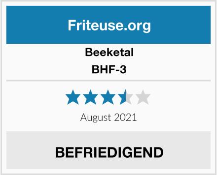 Beeketal BHF-3 Test