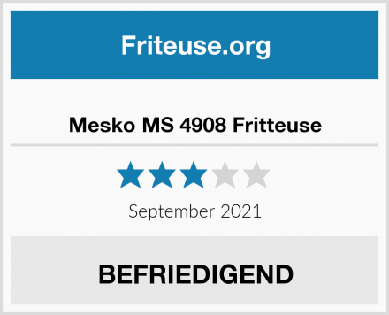 Mesko MS 4908 Fritteuse Test