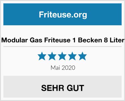Modular Gas Friteuse 1 Becken 8 Liter Test
