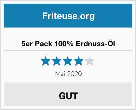 5er Pack 100% Erdnuss-Öl Test