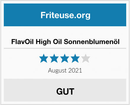 FlavOil High Oil Sonnenblumenöl Test