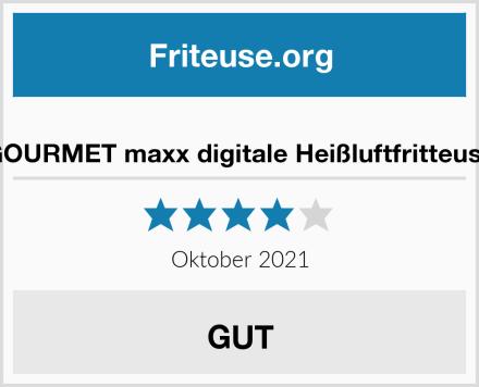 GOURMET maxx digitale Heißluftfritteuse Test