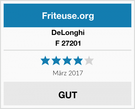 DeLonghi F 27201 Test